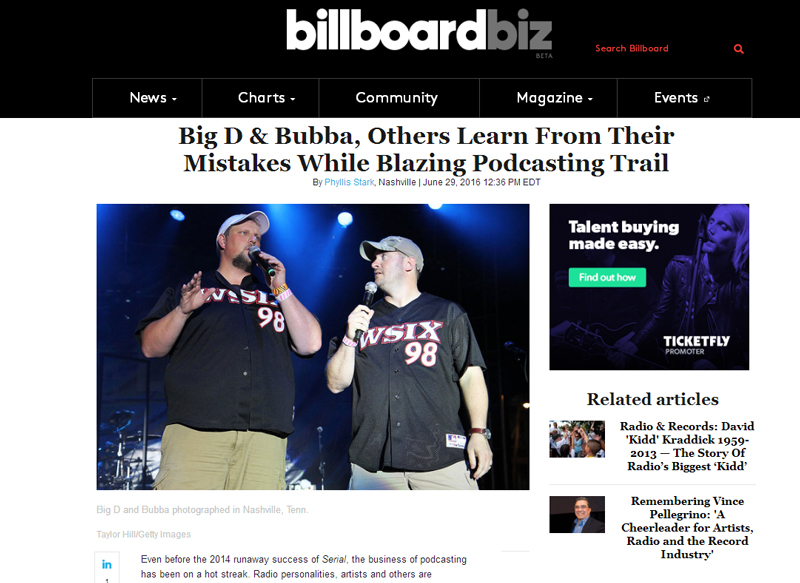 Big D & Bubba, Others Learn From Their Mistakes While Blazing Podcasting Trail